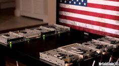 Star Spangled Banner on Eight Floppy Drives