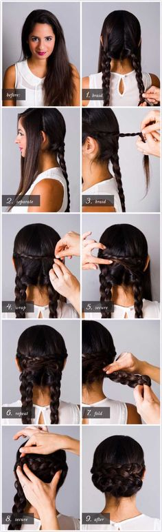 Best Hairstyles for Brides - BRAIDED CHIGNON - Amazing Hair Styles and Looks for Half Up Medium Styles, Updo With Long Hair, Short Curls, Vintage Looks with Veil, Headpieces, or With Tiara - Wedding Looks for Girls With Round Faces - Awesome Simple Bridal Style With Headband or Elegant Braided Up Dos - thegoddess.com/hairstyles-for-brides