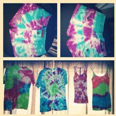 DIY Tie-dye- omg must try with all my goodwill jean shorts