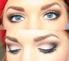 Linda Hallberg – make-up artist oog make-up idee - Makeup 2019 Day Eye Makeup, Blue Eye Makeup, Kiss Makeup, Beauty Makeup, Hair Makeup, Hair Beauty, Makeup Eyes, Linda Hallberg, Blonde With Blue Eyes