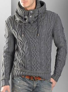 eye makeup - FASHION Pullover with Cable Knit Infinity Scarf Knit pullover Knit scarf Aran pullover Mens knit sweater Aran sweater Mens clothing Pull Aran, Sweater Fashion, Men Sweater, Sweater Cardigan, Aran Jumper, Hooded Sweater, Look Fashion, Mens Fashion, Fashion Rings