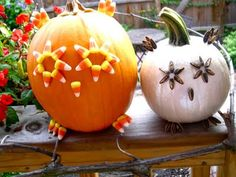 Decorate for Halloween with the kids - just don't eat all the candy corn and sunflower seeds.