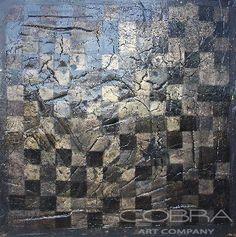 BRONZE GOLD GRANDIEUR Beautiful original painting with mixed media technique Cobra Art Company