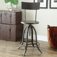 You'll love the Adjustable Height Swivel Bar Stool at Wayfair - Great Deals on all Furniture  products with Free Shipping on most stuff, even the big stuff.