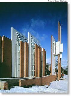 Männistö Church by Juha Leiviskä in Kupio Finland Religious Architecture, Modern Architecture, Modern Church, Place Of Worship, Kirchen, Mosque, Finland, Architects, Facade