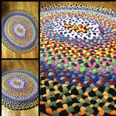 Rug made by my mom from my old tee shirts #love