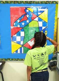 """Have everyone in class contribute to this collaborative classroom """"pop art"""" poster for Memorial Day!"""