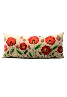 Poduszka-wałek Gaul Designs w kwiaty 30x65 cm