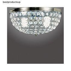 #Ebay #Crystal #Ceiling #Flush #Mount #Light #Fixture #Modern #Chrome #Metal #Chandelier #Elegant #Unbranded #Modern