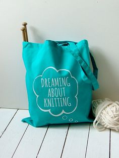 Blue tote style knitting bag  Kelly Connor by KellyConnorDesigns, $17.15