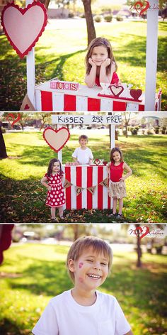 Valentines photography kissing booth