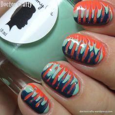 Needle drag manicure