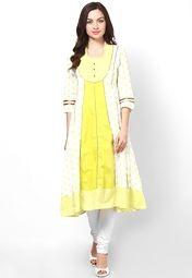 Sangria Green Printed Anarkali Online Shopping Store