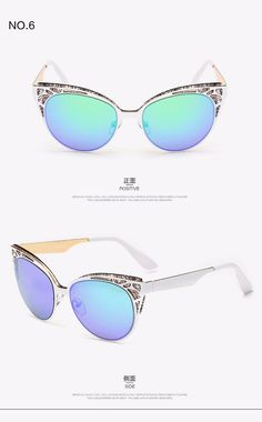 1d08b76eb696 US $14.53 |ROZA Newest Brand Cat Eye Sunglasses Women Hollow Metal Frame  High Quality Sun Glasses Vintage Oculos UV400 QC0252-in Sunglasses from  Apparel ...