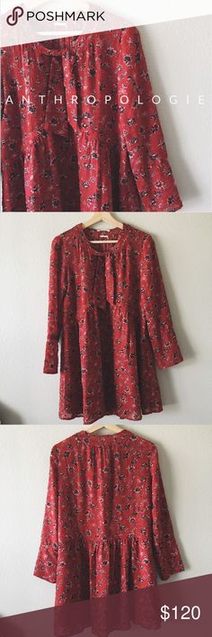 nwt // • Anthropologie ba&sh dress Never been worn! Gahhh so pretty with almost a bohemian twist. Lose fitting with tie around the neck. Also fits a 2 Anthropologie Dresses