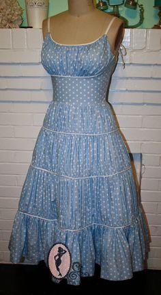 Marilyn Monroe Blue Polkadot Dress