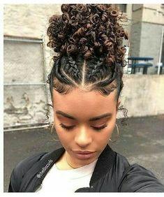 Curly Hair Styles, Cute Curly Hairstyles, Braided Hairstyles For Black Women, Baddie Hairstyles, Hairstyles For School, Natural Hair Styles, Protective Hairstyles, Mixed Hairstyles, African Hairstyles
