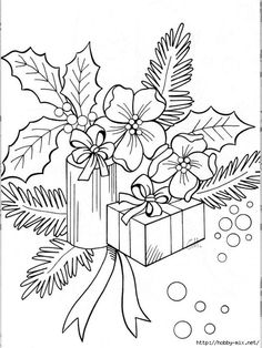 Coloring Hibiscus Flowers Awesome Adult Coloring Book Pages Hawaii Christmas Christmas Coloring Pages, Coloring Book Pages, Printable Coloring Pages, Christmas Colors, Christmas Art, Xmas Holidays, Christmas Presents, Illustration Noel, Christmas Drawing