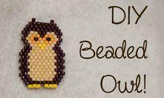 DIY Bead Owl Brick Stitch Charm ¦ The Corner of Craft