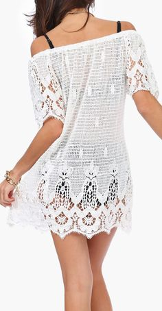 Crochet beach coverup