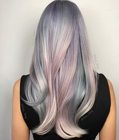 """Mother of Pearl""  Would you wear this hair color?"