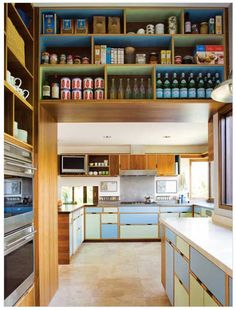 Kitchens with lots of colorful storage? Yes.