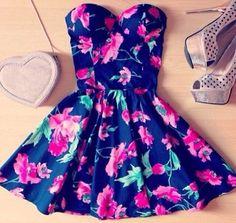 summer dress -pretty colours