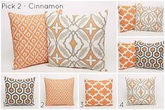 Set+of+2+18+x+18+Pillow+Covers+Orange+and+by+DimensionsHomeDecor,+$32.00