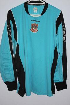 Stanno Men's Soccer Goalie Goalkeeper Shirt - M/L Blue and Black Sports #Stanno