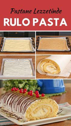 Rulo Pasta Tarifi - Nefis Yemek Tarifleri How to Make Roll Cake Recipe? Illustrated explanation of R Pasta Recipes, Crockpot Recipes, Cake Recipes, Chicken Recipes, Dessert Recipes, Holiday Program, Apple Cookies, Recipe For 4, Food Cakes