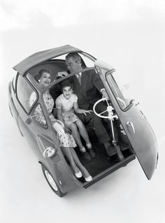 The Isetta is an Italian-designed microcar built under licence in a number of different countries, including Spain, Belgium,France, Brazil, Germany, and the United Kingdom. Produced in the post-World War II years, a time when cheap short-distance transportation was most needed, it became one of the most successful and influential city cars ever created. Because of its egg shape and bubble-like windows, it became known as a bubble car, a name later given to other similar vehicles.