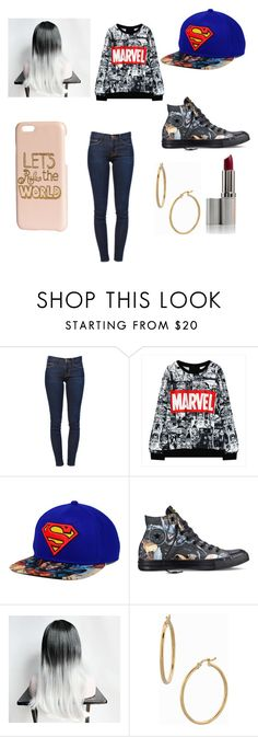"""""""Untitled #23"""" by martinezjorge ❤ liked on Polyvore featuring beauty, Frame Denim, Converse, Bony Levy and H&M"""