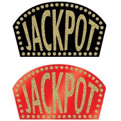 1 Casino Party Glittered Jackpot Sign Cutout Decoration   eBay