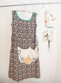 :: yes indeedy, a most prettiest of black floral dottie angel sun frock, made from the most delightfully softest quality vintage inspired cotton. the