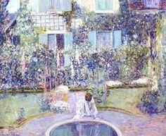 The Garden Mirror, Frederick Frieseke