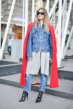 How to Layer Jackets Like a Street Style Star | @stylecaster