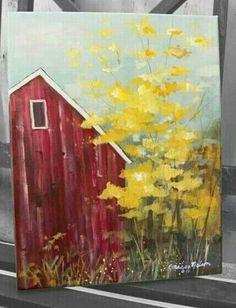 Barn canvas painting