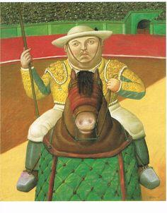 De picador. Kunstenaar Botero. Postkaart uit de collectie verzamelen bij www.postersquare.com