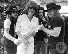 Lynyrd Skynyrd and David Johansen by Len DeLessio Washington May 30 1976