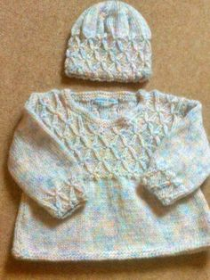 Baby Dress and Hat to Match by SquiddlyBeanArans on Etsy