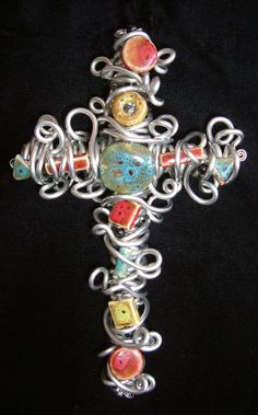 wire beaded cross