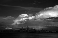 Heavy Skies. Big weather over Liverpool shot in infrared. This image has converted to monochrome beautifully, please compare with the almost ultra-violet version in this gallery.