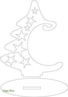 Christmas tree/ornament holder cut out pattern Christmas Wood Crafts, Wooden Christmas Trees, Christmas Art, Christmas Projects, Winter Christmas, Christmas Tree Ornaments, Christmas Decorations, Christmas Signs, Wooden Crafts