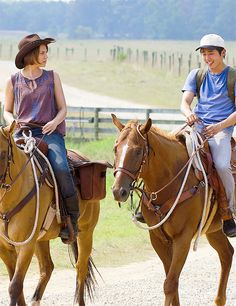 Maggie & Glenn on horseback - the Pharmacy run duo