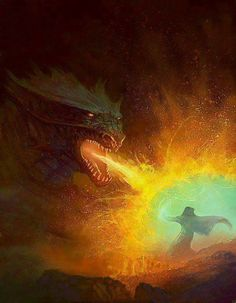 """""""The crumpled dragon raised its proud head and spit a ball of fire at the lightning source. Wyrm spittle exploded in a blinding flash, crackling with heat. Fantasy Paintings, Fantasy Art, Bjd, Dragons, Dragon Tales, Dragon Heart, Dragon Pictures, Art Pictures, Dragon Rider"""