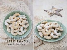 Vanilkové rohlíčky s mandlemi pro začátečníky Cookies, Desserts, Blog, Crack Crackers, Tailgate Desserts, Deserts, Biscuits, Postres, Blogging