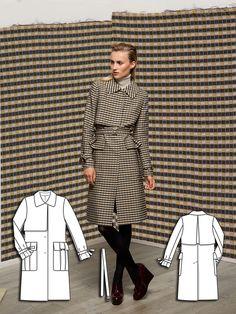 Jacquard Trenchcoat 12/2013 #101 http://www.burdastyle.com/pattern_store/patterns/jacquard-trenchcoat-122013?utm_source=burdastyle&utm_medium=blog&utm_campaign=bsawblog112513-trenchcoattxt