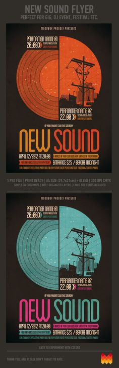 New Sound Flyer / Poster by moodboy , via Behance