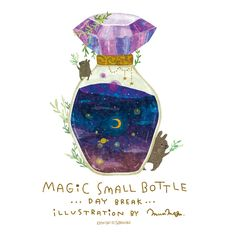 Real bottles with universes and stars and water Cute Illustration, Digital Illustration, Bottle Drawing, Bottle Tattoo, Witch Art, Small Bottles, Bottle Art, Aesthetic Art, Pretty Pictures