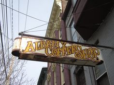 Albany Coffee Shop sign
